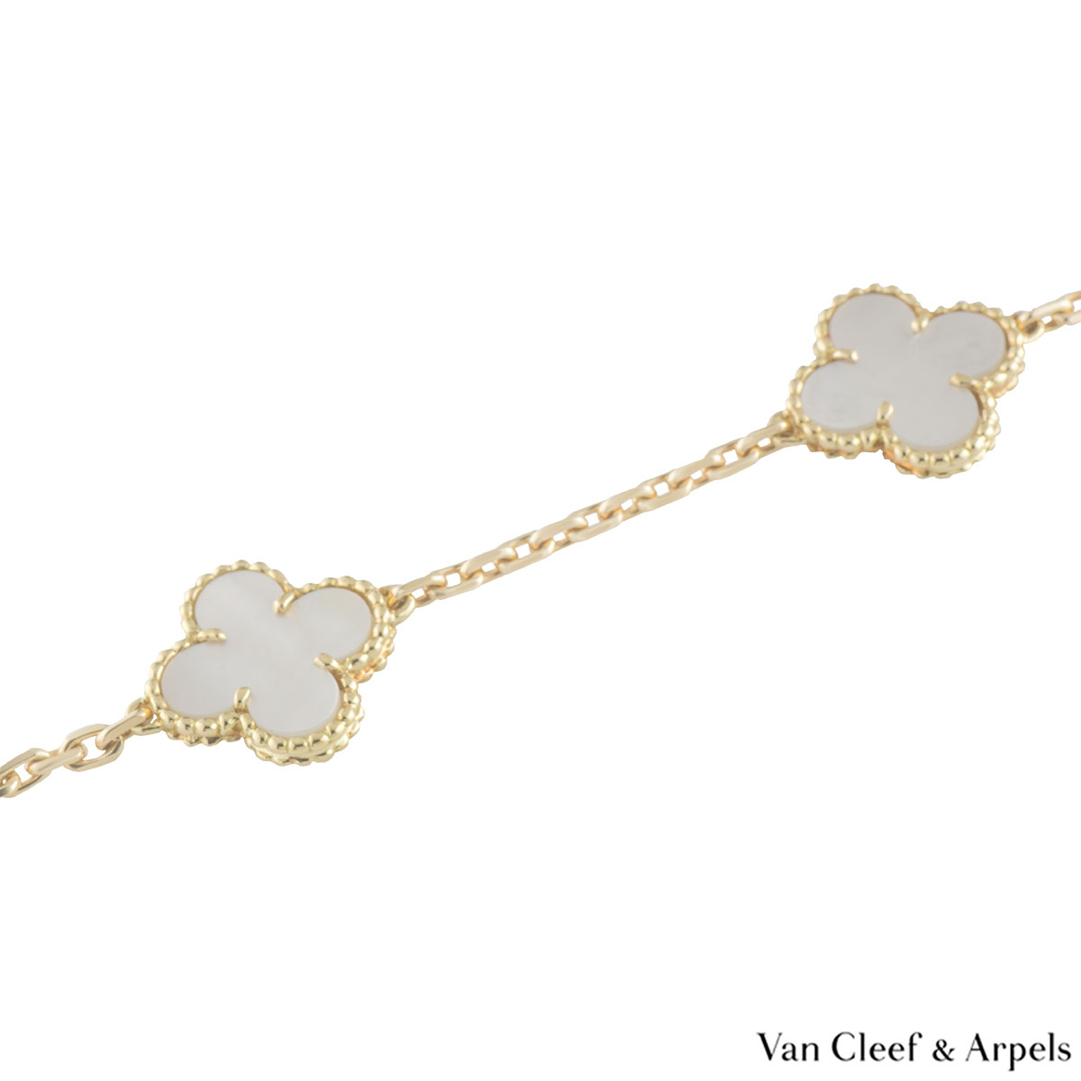 Van Cleef & Arpels Yellow Gold Vintage Alhambra Necklace VCARA42800